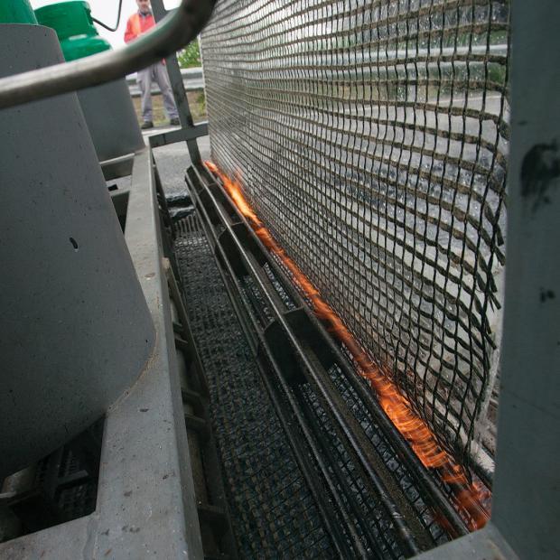 Aquecimento do revestimento em betume