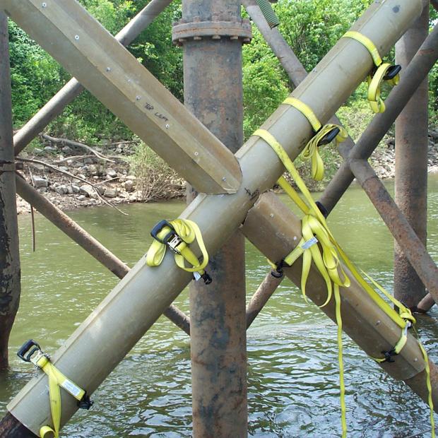 Pilares e estacas em aço
