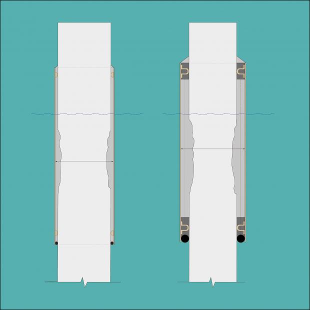 Opções de reparação com base na secção danificada