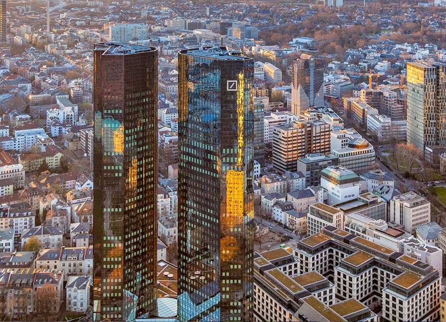 Edifício da Deutsche Bank AG, Frankfur, Alemanha