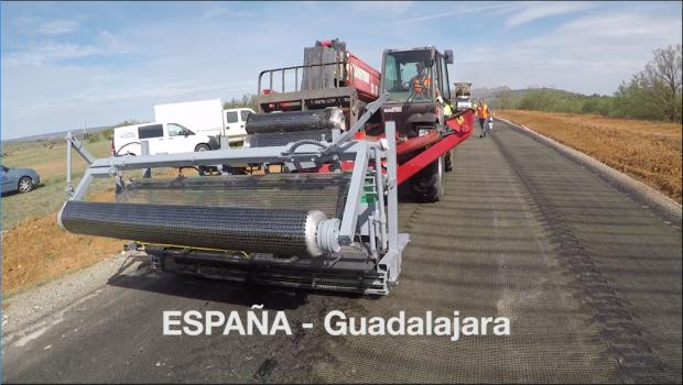 Aplicação de S&P Glasphalt em Guadalajara, Espanha