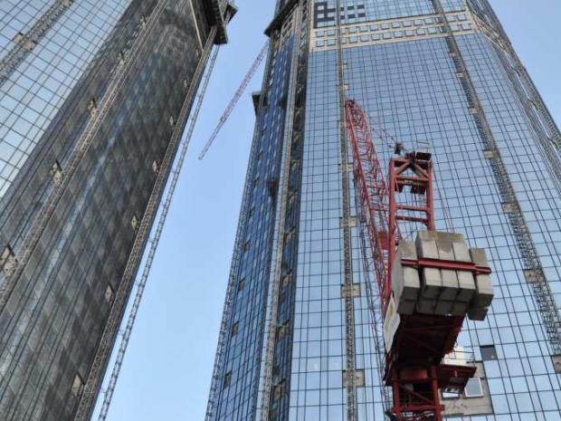 As torres em construção